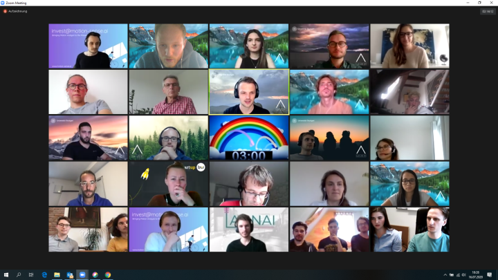 Screenshot der Teilnehmer*innen