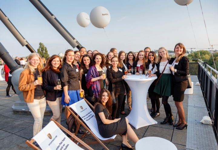 Femtec scholarship holders at the annual summer party (c) Femtec GmbH