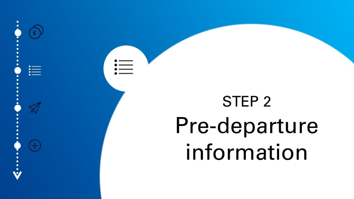 Step two: pre-departure information