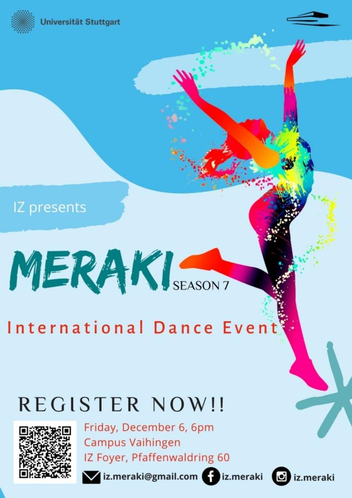 Poster für Meraki Event - Teilnehmer/innen gesucht!
