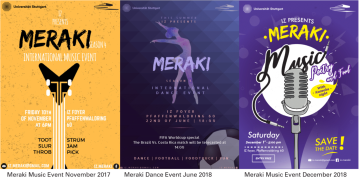 Our past Meraki events 2017-2018