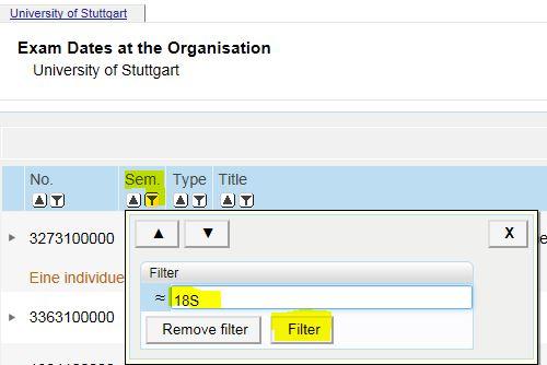 Filter in Campus